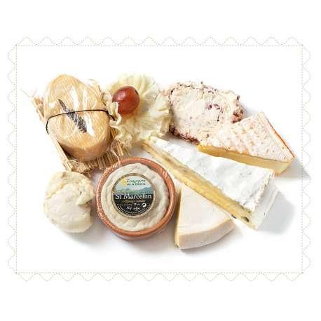 Bandeja de quesos cremosos