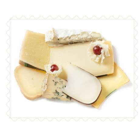 Bandeja de quesos de sabores diferentes