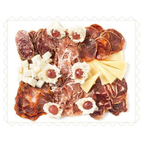 Bandeja ibérica y de quesos curados