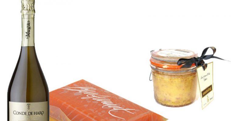degustación de foie, salmón y cava