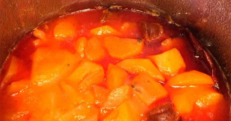 Receta de patatas con chorizo o a la riojana