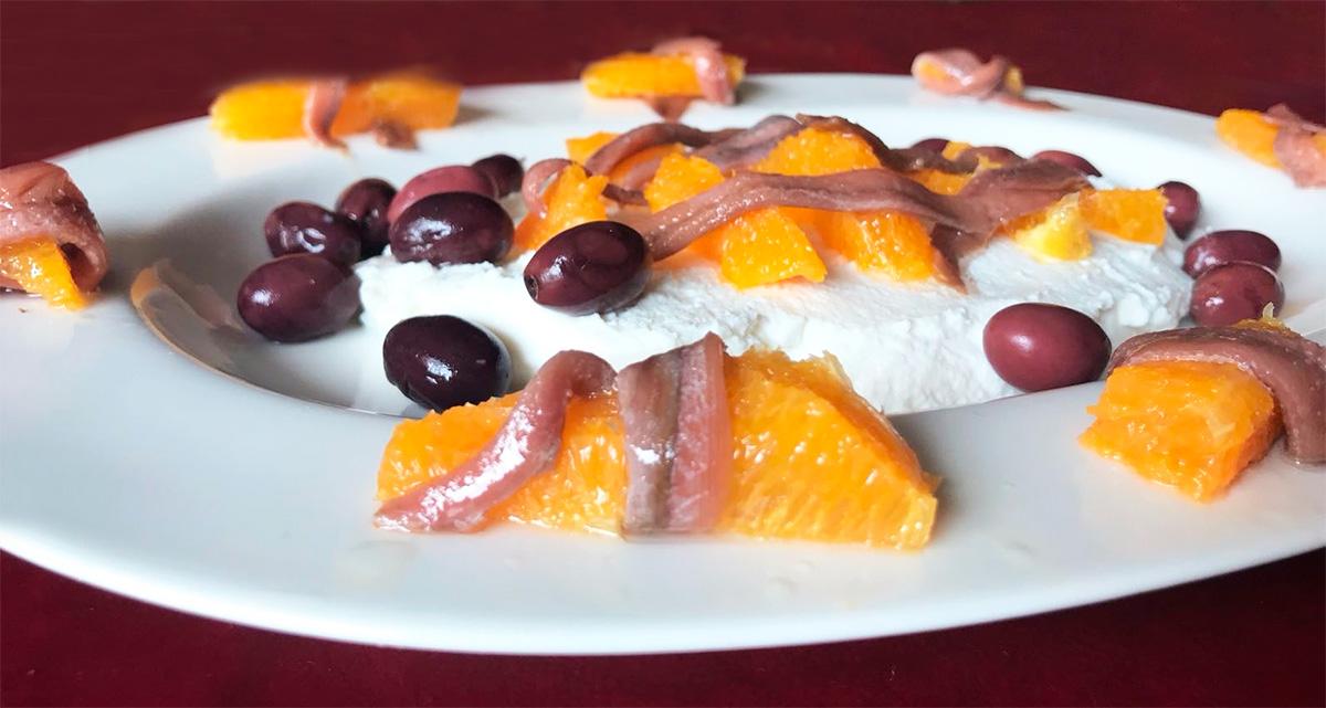 Ensalada de ricota y naranja